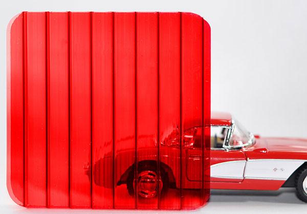 Полікарбонат стільниковий (сотовий) 8мм червоний OSCAR Сербія